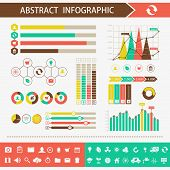 Infographic design elements. Presentation abstract vector page