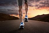 stock photo of calves  - Close up of athlete - JPG