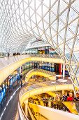 Architectural Features Of The Myzeil Shopping Mall In Frankfurt