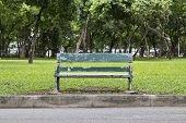 Old Green Bench