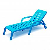 Beach chair with sun symbol on map pointer,