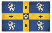 Grunge Flag Of Durham (great Britain)