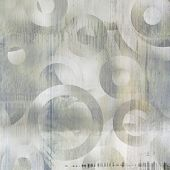 foto of cell block  - art abstract geometric textured colorful background with circles in grey and white colors  - JPG