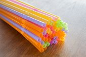 Group Of Colorful Cocktail Straws