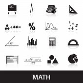 Mathematics Icons Set Eps10