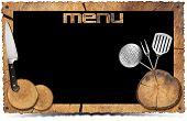 Rustic Menu Background - Photo Frame