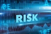 picture of unsafe  - Risk concept blue background with blue text - JPG