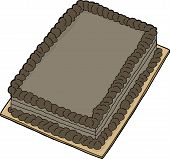 picture of fancy cake  - Isolated double chocolate fancy sheet cake cartoon - JPG