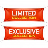 Limited and exclusive collection banners. Vector.