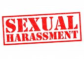 image of inappropriate  - SEXUAL HARASSMENT red Rubber Stamp over a white background - JPG