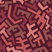 picture of marsala  - Seamless abstract geometric pattern in vintage style with Marsala trendy colors - JPG