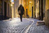 Woman In Narrow Street