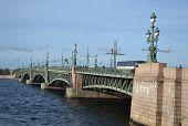 Trinity Bridge In St.petersburg.