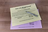 Ballot Papers For Election In Hamburg 2015