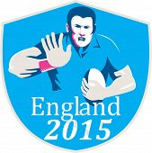 Rugby Player Fending England 2015 Shield