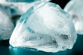 Ice cubes close up.