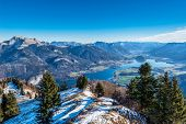 foto of paysage  - View of Wolfgangsee from Zwoelferhorn Mountain - JPG