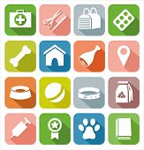 image of petting  - Colorful icons with images for Pets - JPG