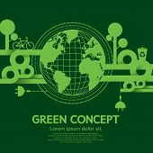 Green Concept Vector Illustration