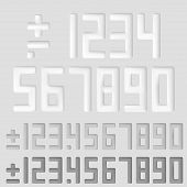 Number sings. Vector