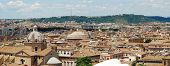 stock photo of emanuele  - Rome aerial view from Vittorio Emanuele monument. Italy.
