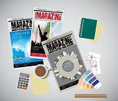 Cover magazine, vector