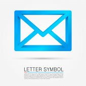 Volume letter symbol. Vector illustration