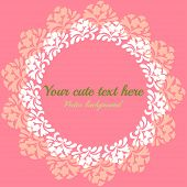 pink vintage card with floral pattern
