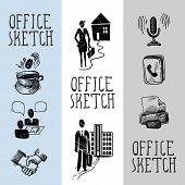 Office sketch banner design