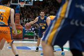 VALENCIA, SPAIN - JANUARY 24: Cabezas with ball during Spanish League match between Valencia Basket Club and UCAM Murcia at Fonteta Stadium on January 24, 2015 in Valencia, Spain