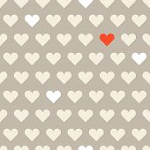 Different hearts shapes seamless pattern. Valentine greeting card