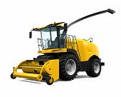 Yellow Forage Harvester