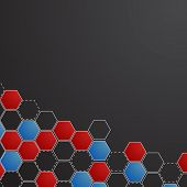 Corporate honeycomb background