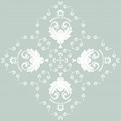 Orient Vector Pattern. Abstract Ornament with Blue and White Colors