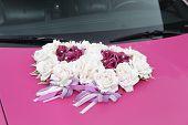 Pink Wedding Car