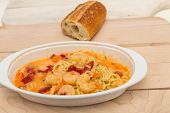 Shrimp Scampi And Bread