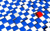 Futuristic Checkers Platform Background
