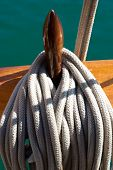 Yacht's Ropes And Tackles