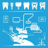 Vector set of dentist icons