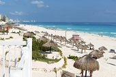 image of yucatan  - A view of Cancun beach on the Yucatan - JPG
