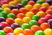 picture of easter candy  - close up view of many color candy as background - JPG