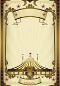 Fantastic entertainment circus. A vintage circus background with sunbeams for your entertainment