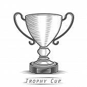 Winner cup vintage tattoo