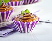 Muffin cakes with chocolate