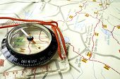 picture of longitude  - Compass and trekking map - JPG
