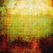 Grunge, vintage old background. With different color patterns: red (orange); yellow (beige); brown; green