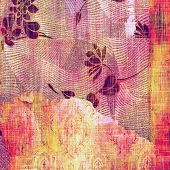 Grunge, vintage old background. With different color patterns: red (orange); yellow (beige); purple (violet); pink