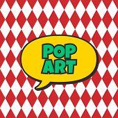 picture of nuke  - pop art retro theme bubble caption vector illustration - JPG