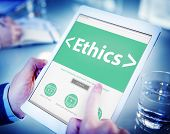 foto of moral  - Online Ethics Religion Morality Office Working Concept - JPG