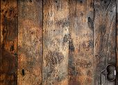 Old Wooden Door With Hardware Elements